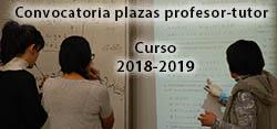 Plazas profesor-tutor